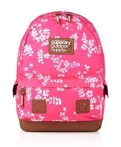 Womens - Hampton Montana Rucksack in Fluro Pink white. Superdry  BackpackSuperdry ... cb7165fbb8835