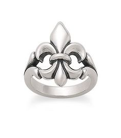"""Fleur-De-Lis Ring   James Avery Fleur-de-lis, or """"lily flower"""" in French, is an intriguing symbol whose petals represent faith, wisdom, and chivalry."""
