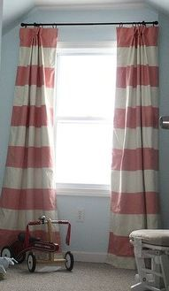 Beautiful Red And White Striped Curtains With Borders | Ideas For The House |  Pinterest | Red Curtains, Curtain Ideas And Modern
