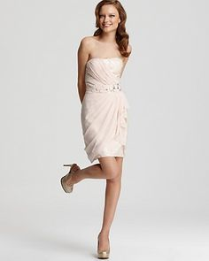 LM by Mignon Dress - Sequin and Silk Strapless Dress | Bloomingdale's