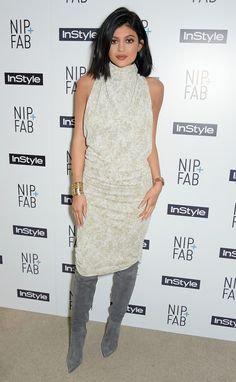 Kylie Jenner in Zaid Affas at the Nip+Fab 'InStyle' tea party in London