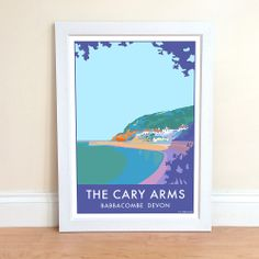 Vintage The Cary Arms Babbacombe by Becky Bettesworth | Prints from Rowbury Gallery