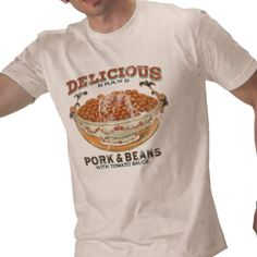 Delicious Brand Pork and Beans Funny Vintage T-Shirt