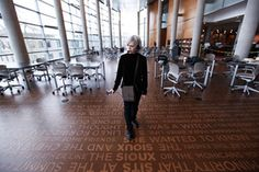 Artist Ann Hamilton Talks About Installing Words in Public Places
