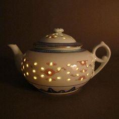 Chinese Rice Grain Porcelain Dragon Teapot