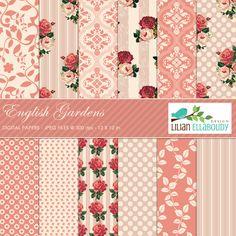 English Garden Digital Papers