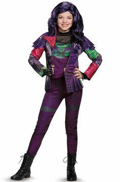 Large Disguise Disney Mal Descendants 3 Deluxe Girls Costume Purple 10-12