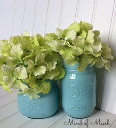 Painted Inside Mason Jars