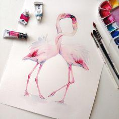 Lovely watercolor painting by Natalia Kadantseva instagram.com/kadantsevanatalia