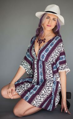 Boho inspired spring outfit with purple hair // inspirationindulgence.com