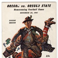 Color image of the cover of the Oregon vs. Oregon State Football program, Nov. 29, 1941. ©University of Oregon Libraries - Special Collections and University Archives