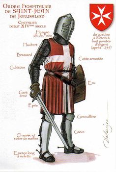 Knights Hospitallers, 14th century Sovereign Military Hospitaller Order of Saint John of Jerusalem . Founded in 1099 in the aftermath of the first Crusade. The order includes military, medical and pastoral Brothers. After the fall of Acre, they escaped to Cyprus, conquered and ruling Rhodes 1309-1522,and Malta 1530-1801.  My dads side has traced themselves back to these guys.