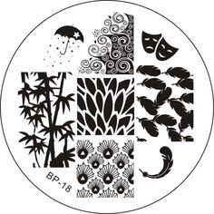 $1.99 Leaf & Feather Nail Art Stamp Template Image Plate BORN PRETTY 18 - BornPrettyStore.com