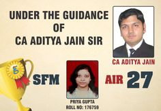 | Under The Guidance Of #CA Aditya Jain Sir |  #Congratulations Priya Gupta For #AIR27  Stay Connected with Us  Visit : http://www.gaapbright.com/