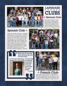 yearbook design tips- lots of info: simple, clean