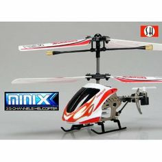 MiniX 3.5 Channels Helicopter Gryo - RED, 6025-1-RED by V-MAX. $29.99. Ready to fly out of the box including charger (charge with transmitter)Highly detailed slim line canopy with led lights. Ultra Light Weight and Super Small Size with Gyro & Throttle Lock! Very Stable!. 3.5 channels, Extra long distance Infra-red controlled, 3 selectable bands: A, B, CLight weight composite design for durability and high performance flight. Advance micro Lipo battery provide l... Indoor Flying, V Max, Radio Control, Long Distance, Canopy, Helicopters, Hobbies, Games, Toys
