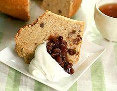 黒糖&小豆のシフォンケーキ