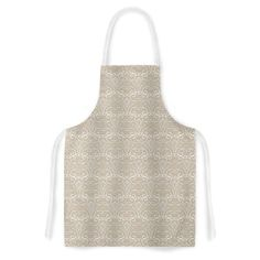 You'll love the Soft Deco by Julia Grifol Artistic Apron at Wayfair - Great Deals on all Kitchen & Dining  products with Free Shipping on most stuff, even the big stuff. #Apron #deco #pattern #kessinhouse #geometric #tan #kitchen #