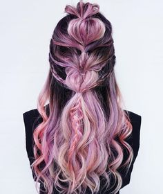 Another braid version of the unicorn hair coloured