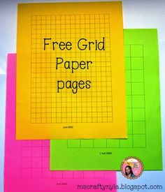 Free Grid Paper Pages for symmetry and graphs #math