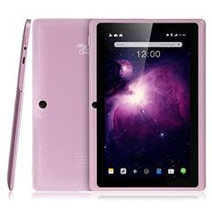 Dragon Touch Y88X Plus 7'' Quad Core Google Android 4.4 KitKat Tablet PC, IPS Display, HD Screen 1024 x 600, 8 GB, Bluetooth, Dual Camera, Netflix, Skype, 3D Game Supported - Rose Pink - http://www.homeandofficeproducts.com/dragon-touch-y88x-plus-7-quad-core-google-android-4-4-kitkat-tablet-pc-ips-display-hd-screen-1024-x-600-8-gb-bluetooth-dual-camera-netflix-skype-3d-game-supported-rose-pink/