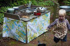 outdoor play kitchen for kids | Outdoor play kitchen by greta