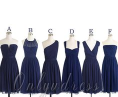 Navy blue bridesmaid dresses short bridesmaid by OnlyuDress, $85.99
