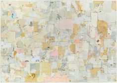SIMON EVANS The Skin of the Earth is a Blue Blouse, 2013 Mixed media on paper 66 x 92 inches