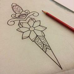 girly dagger tattoo - Google Search