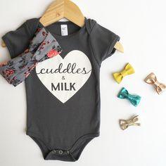 cuddles & milk baby onesie | heart onesie| - everly b.