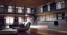 Scène d'intérieur 3D Loft Particulier - Création d'images 3D Bordeaux