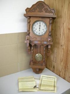 アンティーク アンソニア クロック 柱時計 掛時計 「USED」 Watch wall clock ¥45800円 〆03月26日