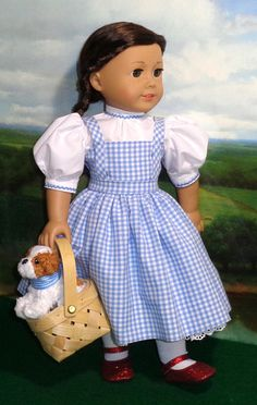 "American Girl Size/_DOROTHY/_Wizard of OZ COSTUME Red Shoes/_18/"" Doll Clothes/_NEW"
