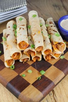 Cheesy Pulled Pork Taquitos from Miss in the Kitchen