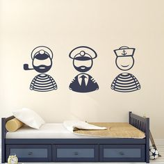 Sailors Wall Decals Shipboys Stickers Nautical Cabin by DecalHouse