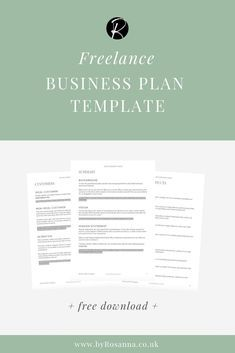 Freelance Business Plan Template Free Download Business Plan Template Free Business Plan Template Business Planning