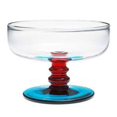 Marimekko - Sukat Makkaralla Clear/Red/Turquoise Dessert Bowl