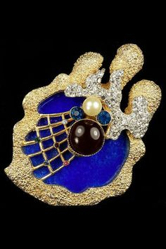 Vendome Georges Braque spider web pin, ca. 1960s.