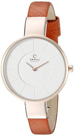 Obaku Women's V149LXVIRO Analog Display Analog Quartz Orange Watch -