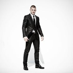 Tarec Saffiedine in a smooth suit, looking like a proper James Bond : if you love #MMA, you will love the #MixedMartialArts and #UFC inspired gear at CageCult: http://cagecult.com/mma