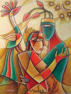 Born in Mangalagiri, in Guntur district, Krishna Ashok, Indian painter, has received his Bachelor in Fine Arts degree from Osmania University, Hyderabad.
