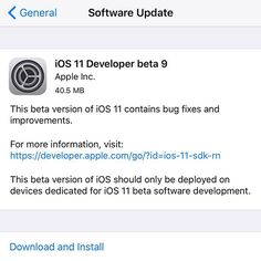 Reposting @dhvanesh: Apple releases iOS 11 beta 9 for developers  #apple #ios11 #ios