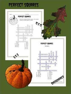 8th Grade Math Estimating Square Roots Crossword Puzzle | Square ...