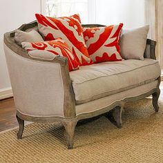 this one's a beaut. antique, modern, rustic sofa