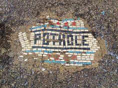 When life gives you a pothole, make… a mosaic!