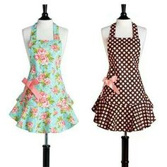 Delantales Retro Apron, Aprons Vintage, Easy Sewing Projects, Sewing Tutorials, Cute Aprons, Sewing Aprons, Kitchen Aprons, Diy Clothes, Fashion Dresses