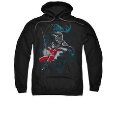 Amazon.com: Batman DC Comics Black And White Batman and Robin Adult Pull-Over Hoodie: Clothing