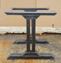 Industrial I beam Steel Metal Table Base Iron Dining Kitchen Table