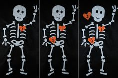 Pin the Heart on the Skeleton Halloween Kids Game