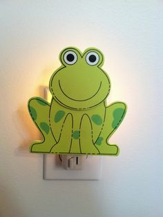 Hey, I found this really awesome Etsy listing at http://www.etsy.com/listing/129374696/frog-night-light-baby-gift-baby-item